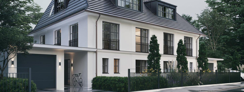 Herrschaftliches Doppelhaus mit einzigartigen Details.