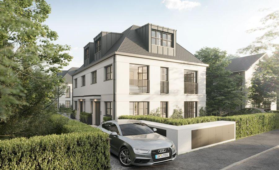 Elegant living. Modern semi-detached house.